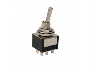 Toggle Switch (ON)-OFF-(ON) 6P IC-148 Yaylı IC 148 IC148